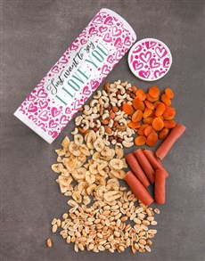 gifts: Personalised Love You Gourmet Fruit And Nuts Tube!
