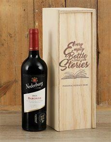 gifts: Personalised Bottle Stories Nederburg Crate!
