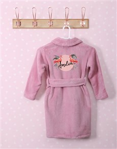 gifts: Personalised Fabulous Flamingo Pink Fleece Gown!