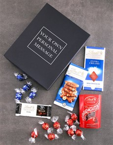 gifts: Personalised Lindt Black Box!