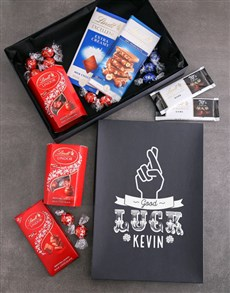 flowers: Personalised Good Luck Lindt Box!