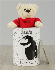 gifts: Personalised Bear Hug  Teddy Tin!