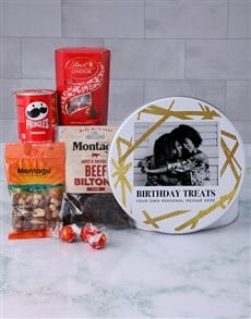 gifts: Personalised Birthday Treats Gourmet Tin!