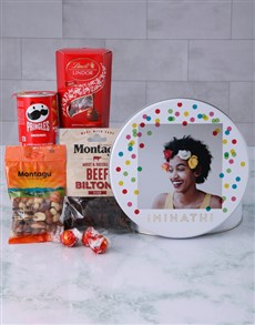 gifts: Personalised Photo Polka Dot Gourmet Tin!