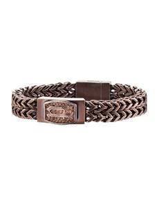 jewellery: Police Jewellery P-Link Brown Bracelet !