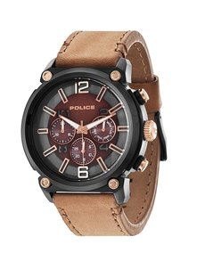 watches: Police Gents Amor Camel Leather Watch!