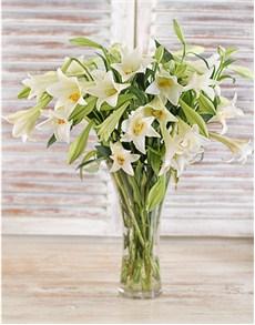 flowers: White Lily Elegance Vase!