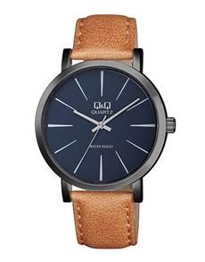 watches: QQ Gents Gun Metal Blue Dial Watch!