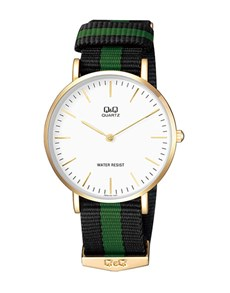 watches: QQ Gents Watch With Navy and Green Canvas Strap!