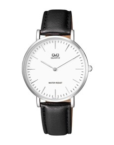 gifts: QQ Gents Watch With White Dial and Black Strap!