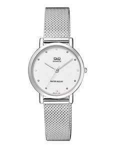 watches: QQ Ladies Steel Round Dial and Mesh Strap Watch!