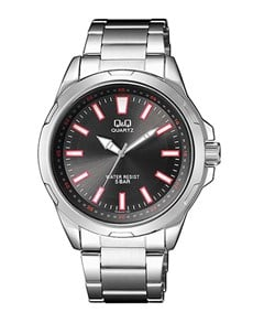 watches: QQ Gents Steel Black Sunray Dial Watch!