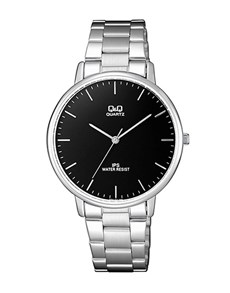 gifts: QQ Black Dial and Steel Bracelet Strap Gents Watch!
