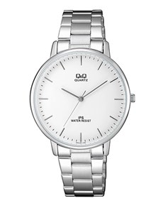 gifts: QQ White Dial and Steel Bracelet Strap Gents Watch!