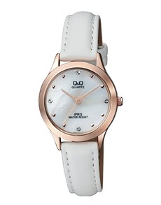 gifts: QQ Ladies Rose Plated and Pearl Dial Watch!