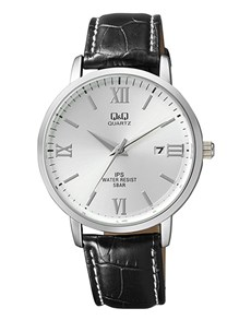 watches: QQ Silver Dial and Black Croco Strap Gents Watch!
