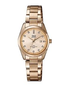 watches: QQ Ladies Rose Plated Date Watch!