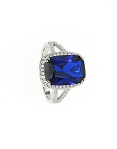 jewellery: Sterling Silver CZ Sapphire Ring!