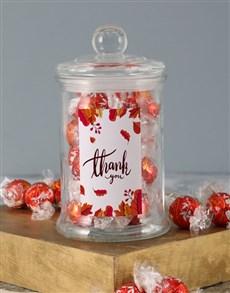 gifts: Leaf Thank You Lindt Candy Jar!