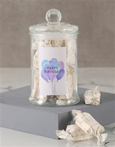 gifts: Happy Birthday Balloon Nougat Candy Jar!