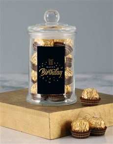 gifts: Gold Happy Birthday Ferrero Candy Jar!