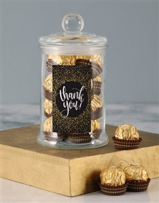 gifts: Gold Thank You Ferrero Candy Jar!