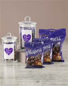 gifts: I Love You Purple Whispers Candy Jar!