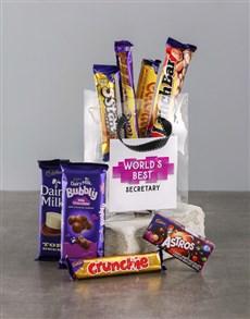 gifts: Best Secretary Choc Treat Bag!