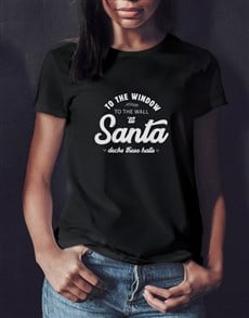 gifts: Deck These Halls Ladies Black T Shirt!