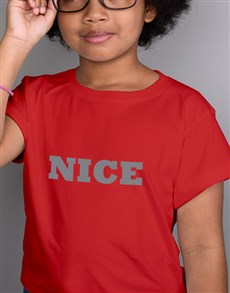 gifts: Silver Nice Kids White T Shirt!