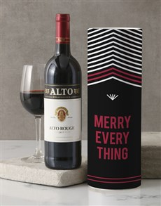 gifts: Merry Everything Wine Tube!