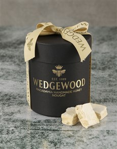 gifts: Wine and Black Nougat Hatbox!