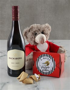 gifts: Wine And Fortune Cookie Hamper!