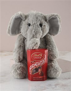 gifts: Elephant Plush Toy and Lindt!