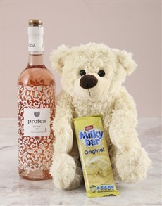 gifts: Cream Teddy Snack Hamper!