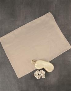 gifts: Gold Satin Pillowcase Hamper!