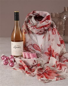 gifts: Pink Paradise Scarf Hamper!