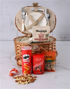 gifts: Moreish Munchies Picnic Basket Hamper!