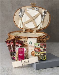 gifts: Tea and Coffee Picnic Basket Hamper!