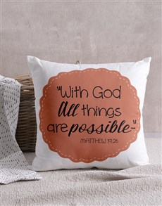 gifts: All Things Are Possible Scatter Cushion!