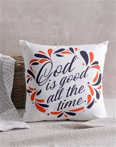 gifts: God Is Good Scatter Cushion!