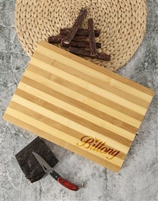 gifts: Wooden Chopping Bull Board And Biltong !