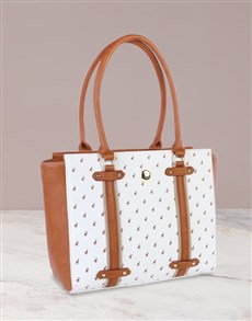 brand: Polo Heritage White Tote Set!