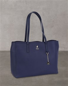 brand: Polo Lyone Pebble Navy Handbag Set!