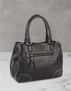 brand: Polo Andes Leather Black Shopper Set!