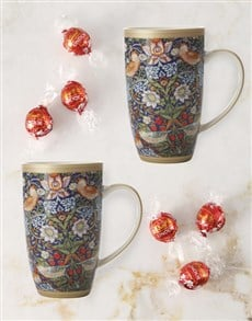 gifts: Maxwell And Williams Strawberry Thief Mug Set!