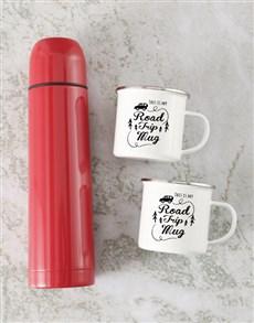 gifts: Road Trip Mug And Flask Set!