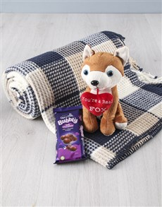 gifts: Cuddle Fox Teddy And Blanket Set!