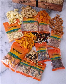 gifts: Wooden Crate of Dried Fruits and Nuts!