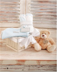for Baby - Hampers and Gifts: Blue Poogy Baby Basket!